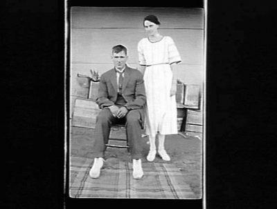 Bill Boyd, Fred+Sarah Cannard, Nandaly, Victoria, 1922